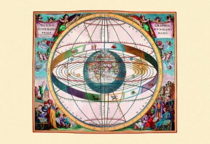NETHERLANDS - CIRCA 1660: Andreas Cellarius (1596 – 1665) was a Dutch-German cartographer. He is best known for his Harmonia Macrocosmica of 1660, a major star atlas, published by Johannes Janssonius in Amsterdam. (Photo by Buyenlarge/Getty Images)